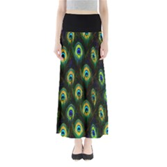 Green Feather Maxi Skirt by CoolDesigns