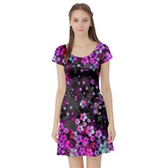 Magenta Hawaii Short Sleeve Skater Dress by CoolDesigns