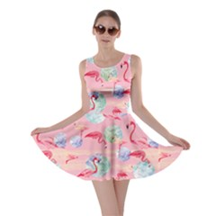 Pinky World Flamingo V2 Skater Dress by CoolDesigns