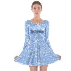 Frozen Xmas Long Sleeve Skater Dress