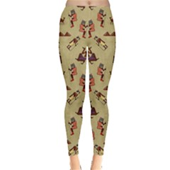 Egypt Cat Vintage Leggings  by CoolDesigns
