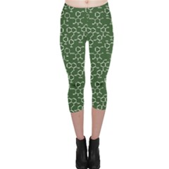 Green Organic Chemistry Pattern With Formulas Capri Leggings by CoolDesigns