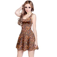 Brown Pattern Steampunk Mechanism Metal Reversible Sleeveless Dress by CoolDesigns
