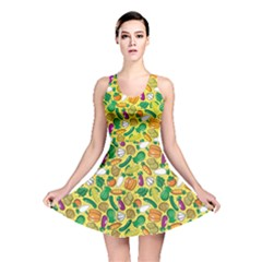 Green Vegetable Pattern Stylish Design Reversible Skater Dress by CoolDesigns
