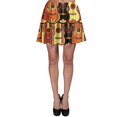 Colorful Pattern With Guitars Skater Dress by CoolDesigns