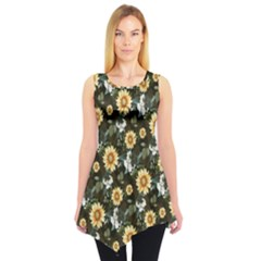 Daisy Sleeveless Tunic Top by CoolDesigns
