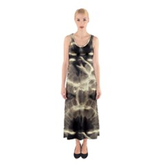 Beige Tie Dye Sleeveless Maxi Dress by CoolDesigns