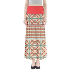 Yellow Aztec Maxi Skirt by CoolDesigns