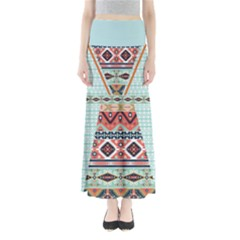 Mint Tribal Maxi Skirt by CoolDesigns