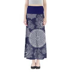 Navy Damask Maxi Skirt by CoolDesigns