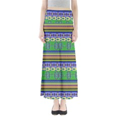 Colorful Aztec 1 Maxi Skirt by CoolDesigns