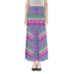 Colorful Aztec 3 Maxi Skirt by CoolDesigns