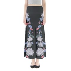 Dark Floral Maxi Skirt by CoolDesigns