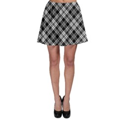 Gray Plaid Skater Skirt by CoolDesigns