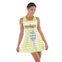 Yellow Stripes Cotton Racerback Dress by CoolDesigns