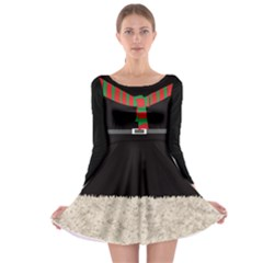 Xmas Costume 1 Long Sleeve Skater Dress by CoolDesigns