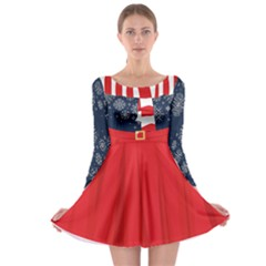 Xmas Costume 4 Long Sleeve Skater Dress by CoolDesigns