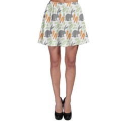Colorful Pattern Bunny Carrots Skater Dress by CoolDesigns