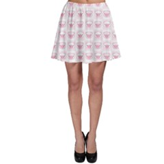 Pink Cute Pig Pattern With Pink Pig Faces Skater Dress