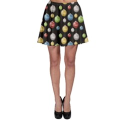 Colorful A Depicting Multicolored Christmas Baubles Or Lights Skater Dress by CoolDesigns