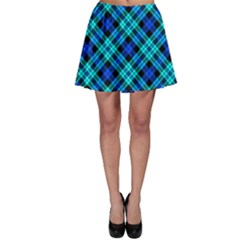 Blue Plaid Skater Skirt by CoolDesigns