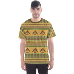 Yellow Eagles Tribal Native American Men s Sport Mesh Tee