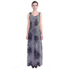 Black Tie Dye Sleeveless Maxi Dress by CoolDesigns