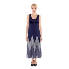 Gray Chevron Sleeveless Maxi Dress by CoolDesigns