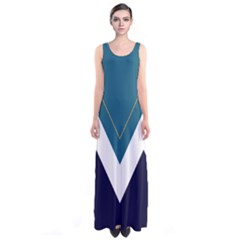 Turquoise Chevron Sleeveless Maxi Dress by CoolDesigns