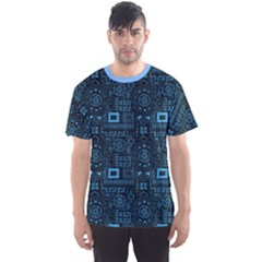 Blue Aboriginal Indigenous African Men s Sport Mesh Tee  by CoolDesigns