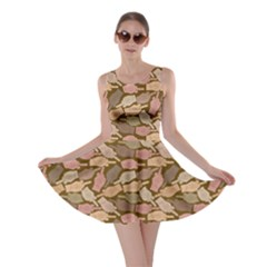 Brown Finger Skater Dress