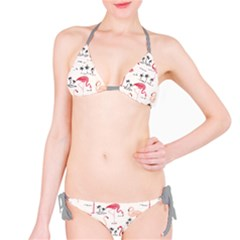 Colorful Flamingo Bird Pattern Bikini Set by CoolDesigns