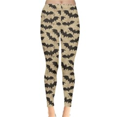 Brown Bats Design Pattern Women s Leggings