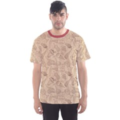 Brown Retro Sketch Pattern Of Ice Cream Men s Sport Mesh Tee by CoolDesigns