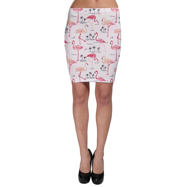 Colorful Flamingo Bird Pattern Bodycon Skirt