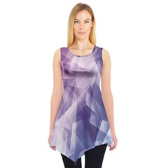 Blue Iridescent Blue Purple And Pink Pattern Sleeveless Tunic Top by CoolDesigns