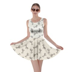 Gray Doodle Birthday Giraffe Pattern Skater Dress