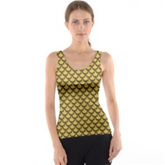 Green Gold Shiny River Fish Scales Tank Top by CoolDesigns