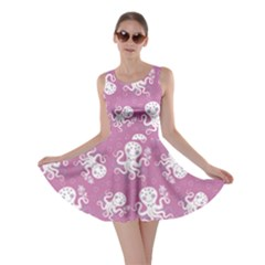 Purple Cute Octopus Stylish Design Skater Dress
