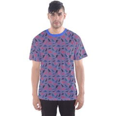 Blue Set Of Silhouettes Dinosaur Animal Retro Pattern Men s Sport Mesh Tee by CoolDesigns