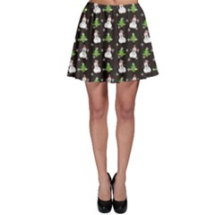 Dark Snowman Christmas Pattern Color Skater Skirt by CoolDesigns