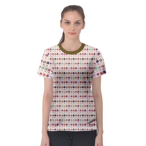 Brown Hot Air Balloon Pattern Women s Sport Mesh Tee by CoolDesigns