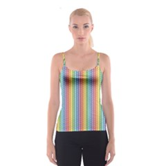 Colorful Striped Rainbow Pattern With Colorful Butterflies Spathetti Strap Top by CoolDesigns