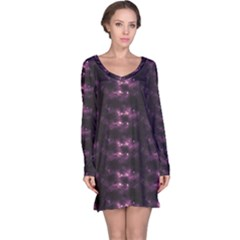 Dark Photorealistic Galaxy Design Long Sleeve Nightdress by CoolDesigns