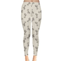 Gray Doodle Birthday Giraffe Pattern Leggings by CoolDesigns