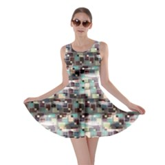 Colorful Pattern Retro Geometric Pattern Skater Dress