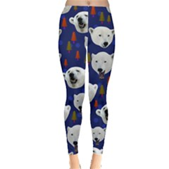 Polar Bear Navy Leggings  by CoolDesigns