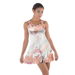 Flamingo Ink Cotton Racerback Dress by CoolDesigns