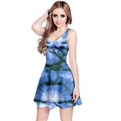 Blue Tie Dye 3 Sleeveless Dress by CoolDesigns
