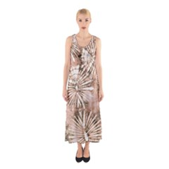 Beige Tie Dye 2 Sleeveless Maxi Dress